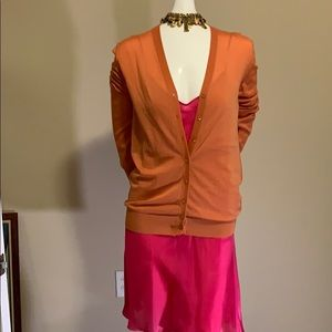 Dolce & Gabbana Peach Cashmere Cardigan Size40 New